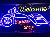 バイク屋さん Bagger shop様 Sundaysネオンサイン製作事例