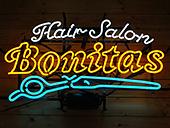 美容室(ヘアサロン) Hair Salon Bonitas様 Sundaysネオンサイン製作事例